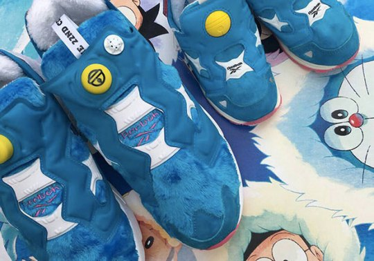 Packer Shoes Brings Japanese Cartoon Doraemon To Life In Reebok Instapump Fury
