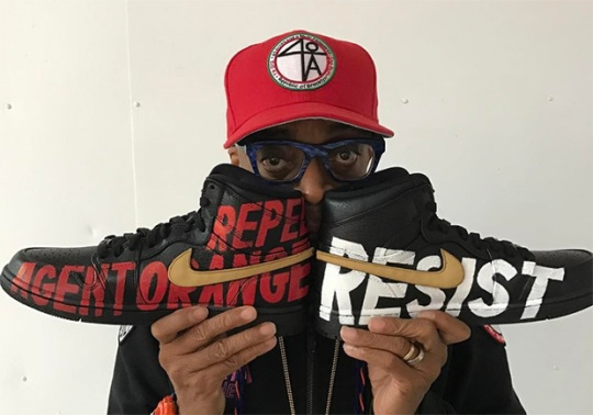 Spike Lee Honors A Tribe Called Quest's Epic Grammy Performance With Custom Jordans