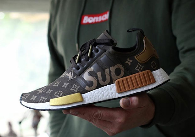 Supreme Louis Vuitton Adidas Nmd Custom 01