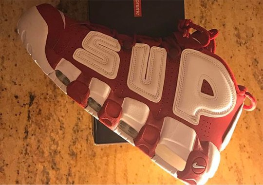 Supreme x Nike Air More Uptempo In Red Revealed
