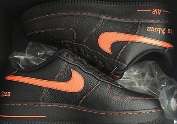 air force 1 black and orange
