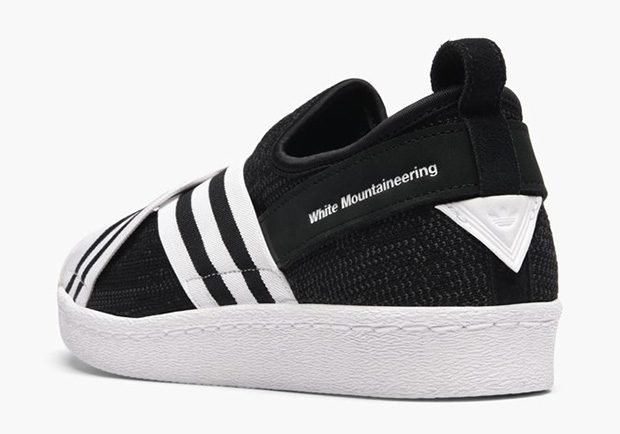 0a01cc327e2 White Mountaineering x adidas Superstar Slip-On Release Date: February  23rd, 2017 $200. Color: Core Black/White-White Style Code: BY2880