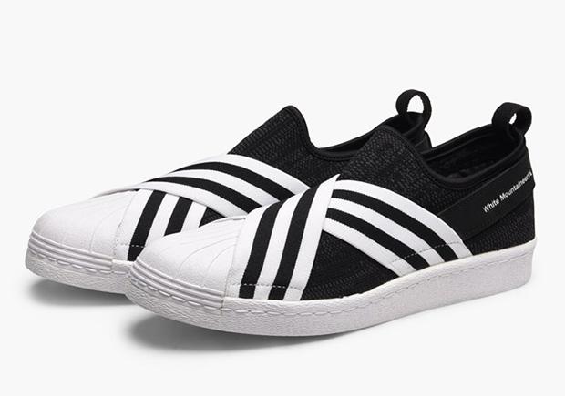 Hvit Fjellklatring X Adidas Superstar Slip-on hl7JC6BL
