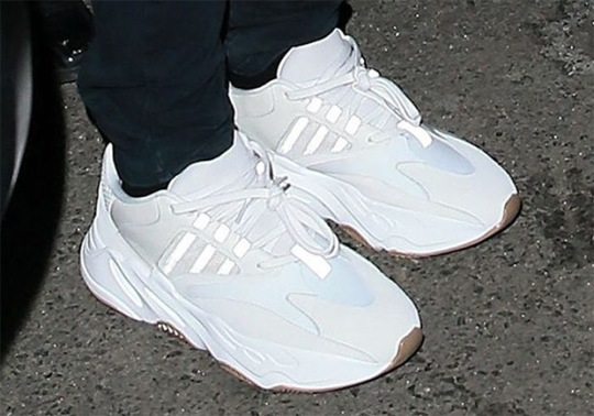 Kanye West Spotted In White YEEZY Runner