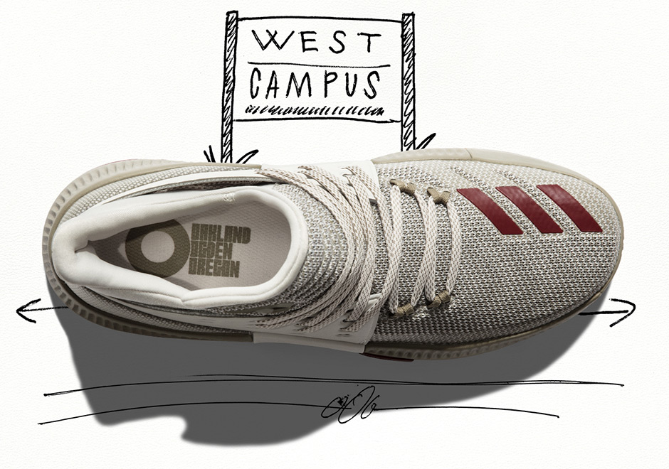 """newest dbe63 212e5 The Dame 3 """"West Campus"""" releases March 31st at adidas.com and select  retailers for  115."""