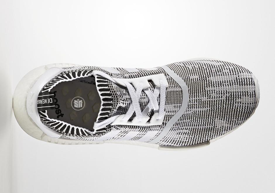 adidas NMD R1 Primeknit Glitch Camo White Black