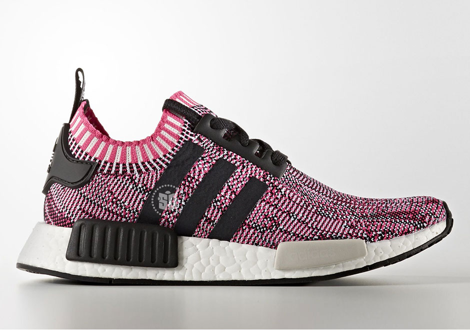 women's adidas originals nmd primeknit shock pink black white