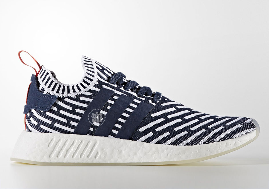 d0d37bc91 adidas NMD R2 Navy White Red BB2909