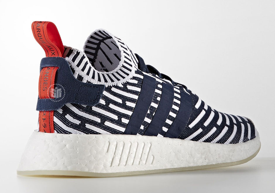 huge discount e2066 52094 adidas NMD R2 Navy White Red BB2909 | SneakerNews.com