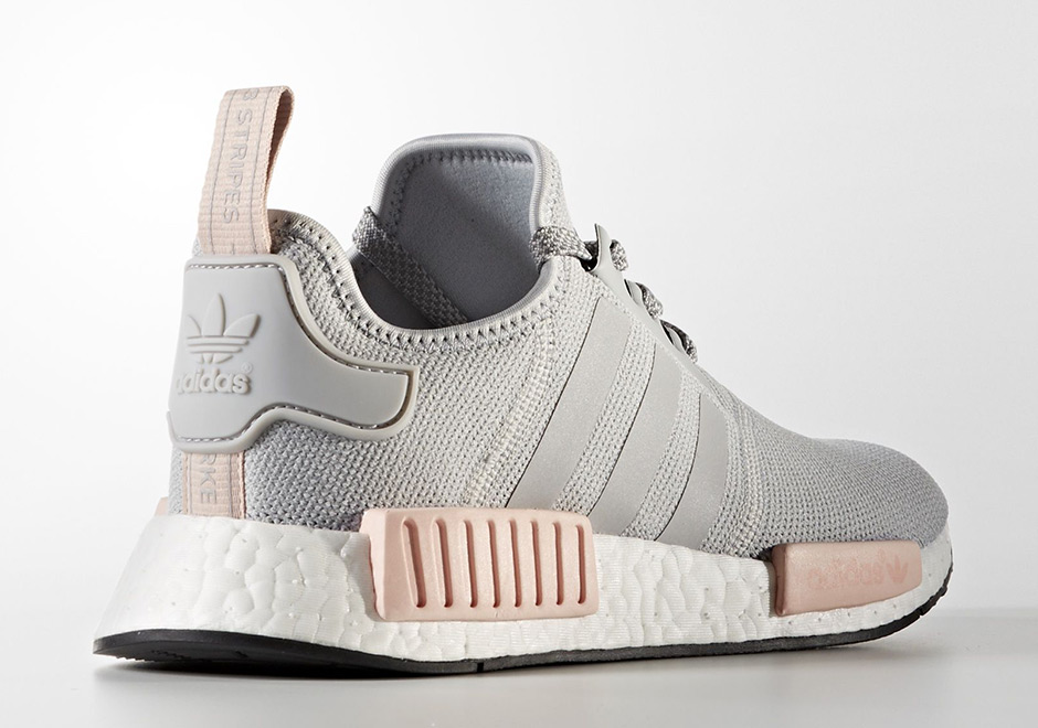 Adidas Nmd Pink White Grey Shoes