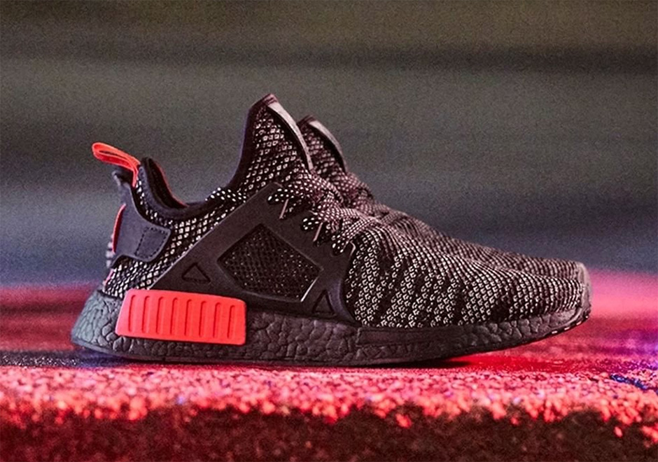 Adidas Men NMD XR1 black core black solar red Bait