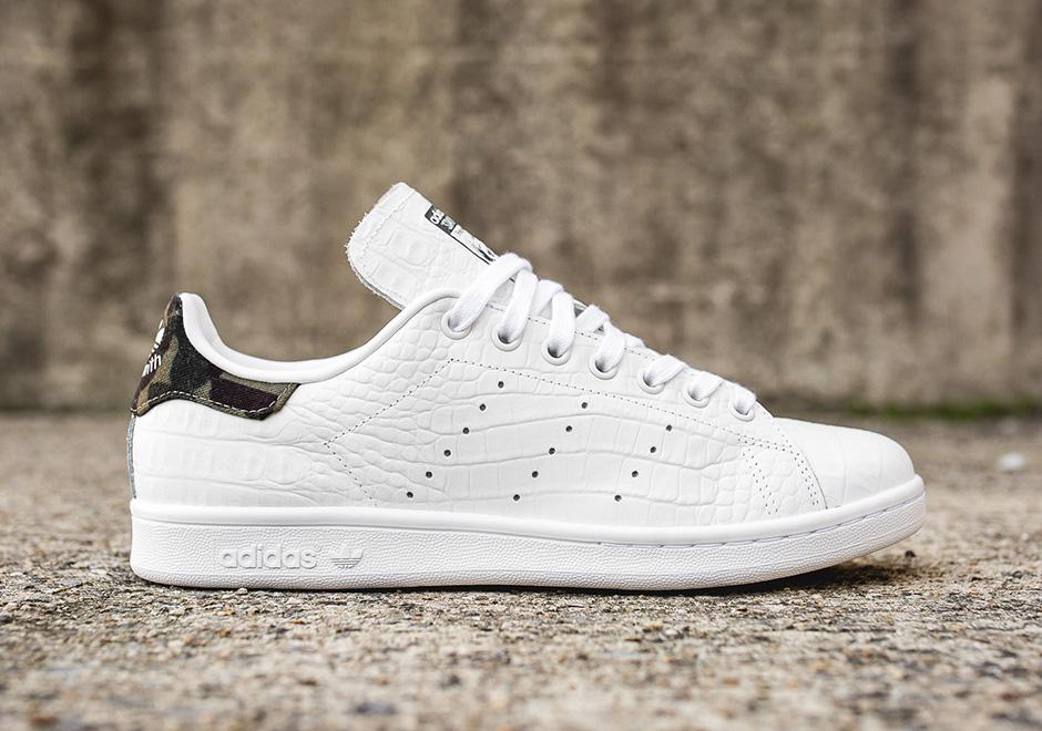 Adidas Stan Smith Snakeskin Camo Heel Shoes