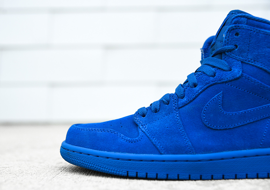 "76b4658d0c0bd3 Air Jordan 1 Retro High ""Blue Suede"" Release Date  April 1st"