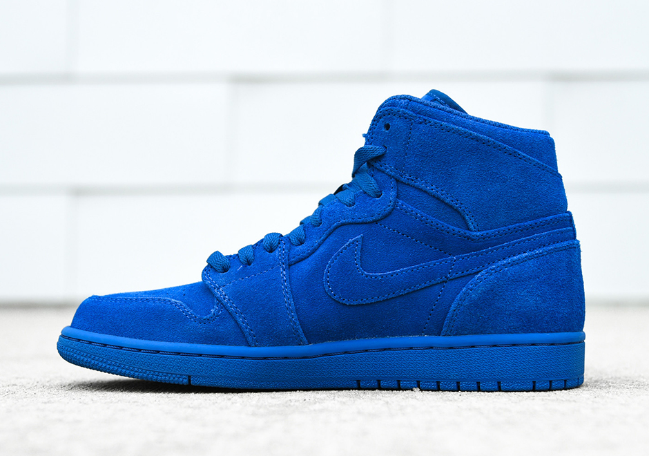 "b664209372c546 Air Jordan 1 Retro High ""Blue Suede"" Release Date  April 1st"