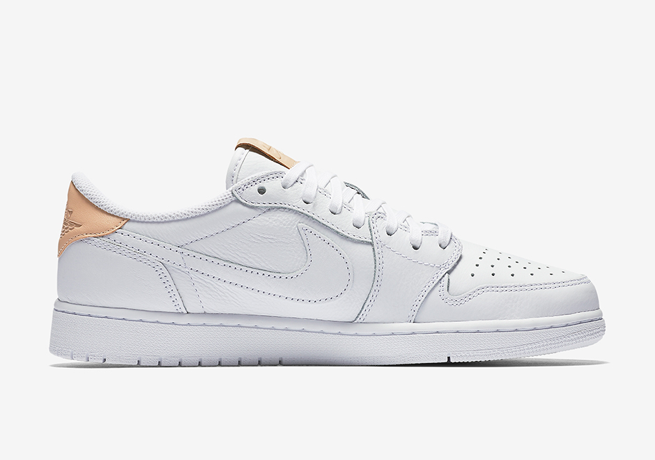 90562f03a03378 Air Jordan 1 Low OG Premium White Vachetta Tan