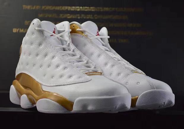 new air jordan 13 gold n white
