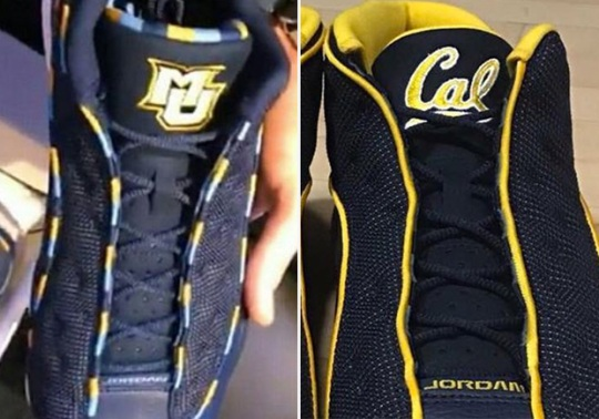 """More Air Jordan 13 Low """"March Madness"""" PEs for Marquette and Cal University"""