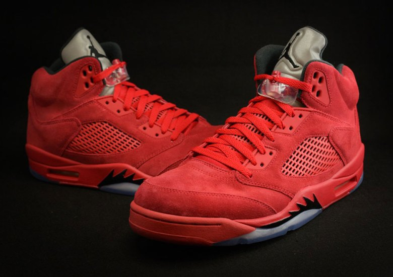 """the best attitude 54051 bf6ff The Air Jordan 5 """"Red Suede"""" Heats Up July 2017"""