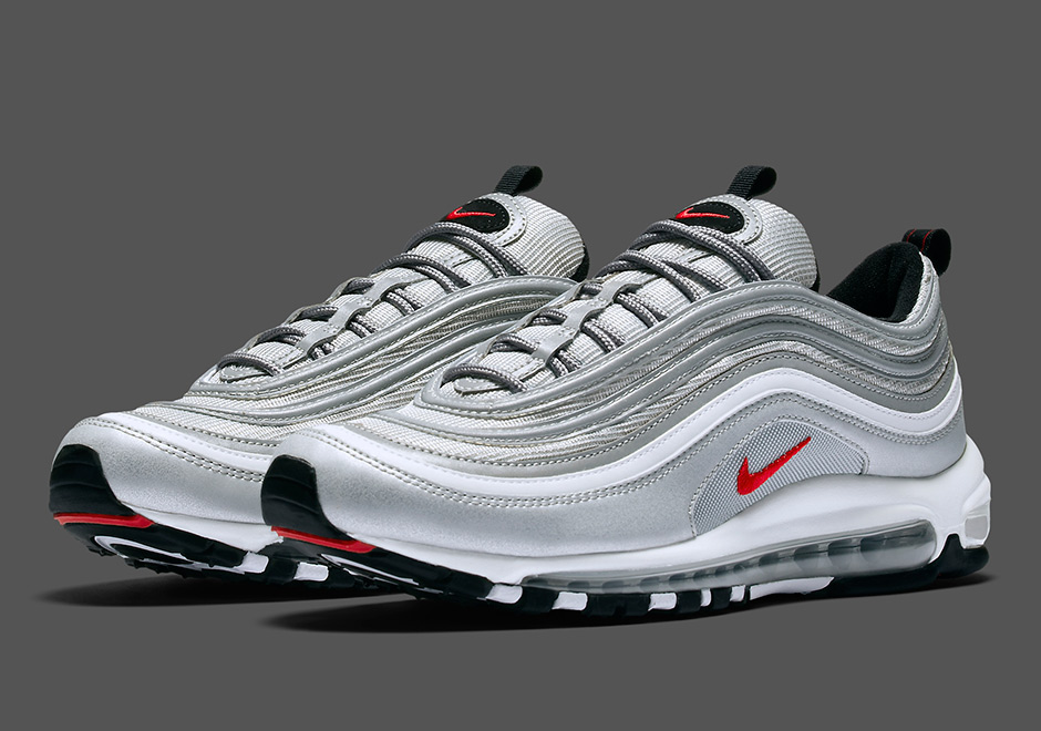 "Updated on March 27th, 2017: The Nike Air Max 97 OG ""Silver Bullet""  releases in the US on April 13th, <a href="