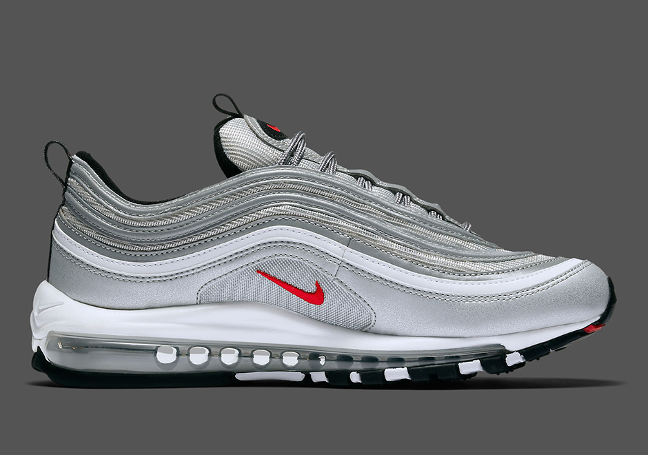 "6e04f2145e9 NIKE AIR MAX 97 OG QS ""Silver Bullet"" Release Date  April 13th"