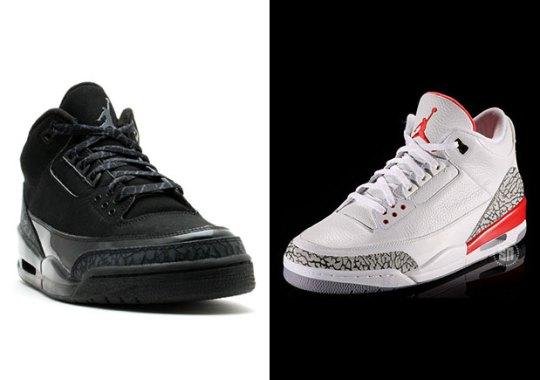 "Air Jordan 3 ""Katrina"" And ""Black Cat"" Releasing This Holiday 2017"