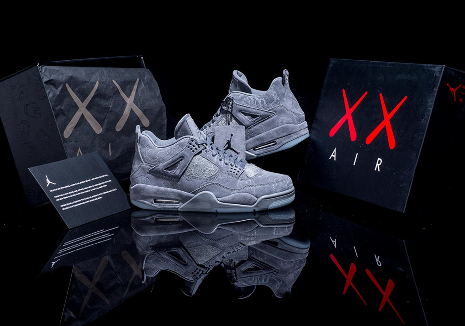 60415bd2a96cdd Best Look Yet At The Upcoming KAWS x Air Jordan 4