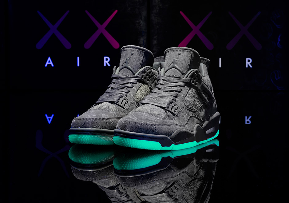 KAWS x Air Jordan 4  350. Color  Cool Grey White Style Code  930155-003.  show comments 3fce6e181