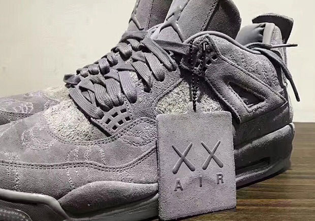 new product da028 3884b A KAWS x Air Jordan 4 Sample Is Up For Sale