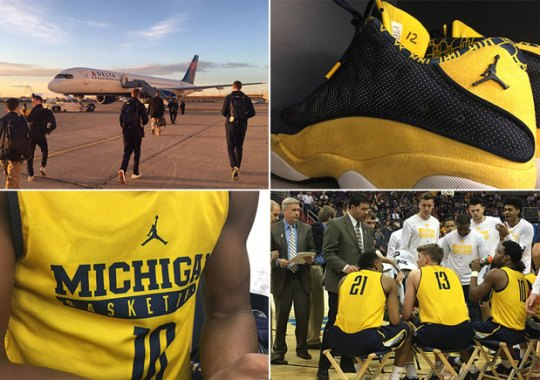 Michigan Plays In Practice Uniforms And Jordan PEs After Plane Scare