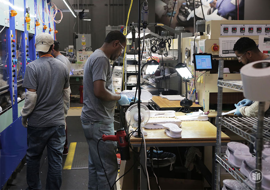 Where the domestic value is at least 70%, we label our shoes Made in the USA. Our commitment to domestic manufacturing allows New Balance to employ American workers at our five facilities in Maine and Massachusetts. Whenever possible, we purchase materials from domestic suppliers who employ more than 7, workers locally.