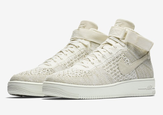 "The Nike Air Force 1 Mid Flyknit ""Sail"" Is Releasing Soon"
