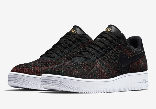 Nike Air Force 1 Low Flyknit Releasing In Burgundy Uppers