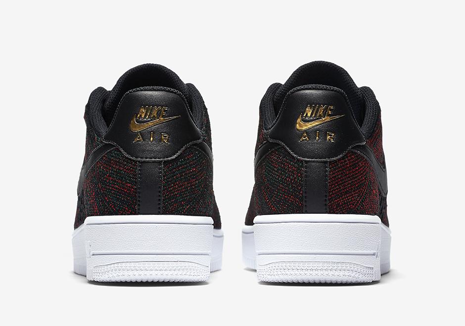 Nike Air Force 1 Flyknit Low Burgundy 817419 005 Sneaker