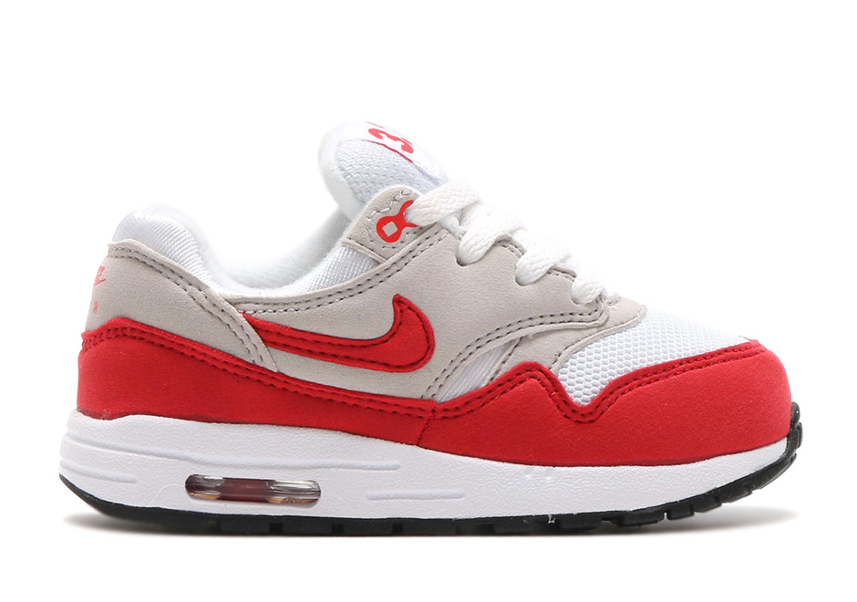 """afdd3842ea Nike Air Max 1 TD """"Air Max Day"""" Release Date: March 26th, 2017. Price: TBD  Color: White/University Red-Neutral Grey-Black"""