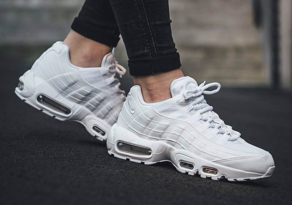 reputable site 3aa5e 8150a nike-air-max-95-triple-white-spring-2017-