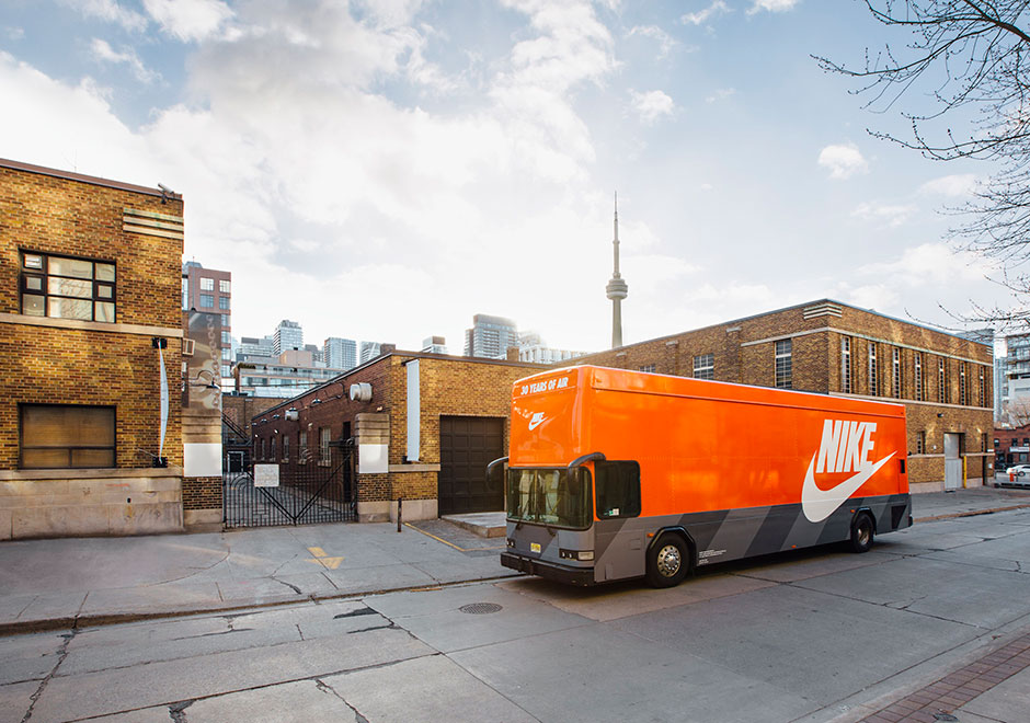 Nike s Air Max bus was spotted roaming the streets of Toronto dc58862f35