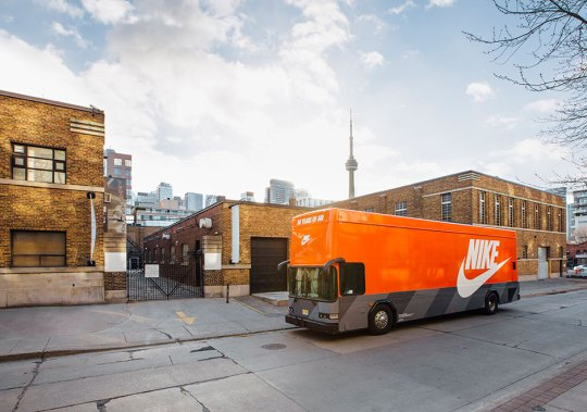 Nike's Giant Air Max Bus Is Roaming Around Toronto