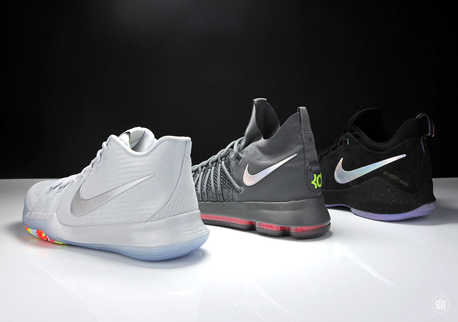 """size 40 8a97e 3d04d While the Nike PG 1 """"Prototype"""" aka """"Shining"""" has released and sold out,  the Kyrie 3 and KD 9 Elite are set to release soon."""