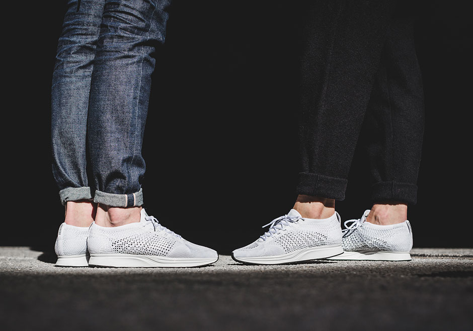 876b3c8b840a That s probably what many Flyknit fans were thinking when they first saw  that an all-white Nike Flyknit Racer was finally releasing. With all of the  ...