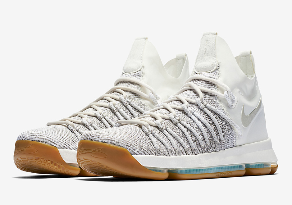 The Nike KD 9 Elite may be built for battle on the court, but this upcoming  colorway is as soft as a lamb with its Pale Grey and Ivory combination of  ...