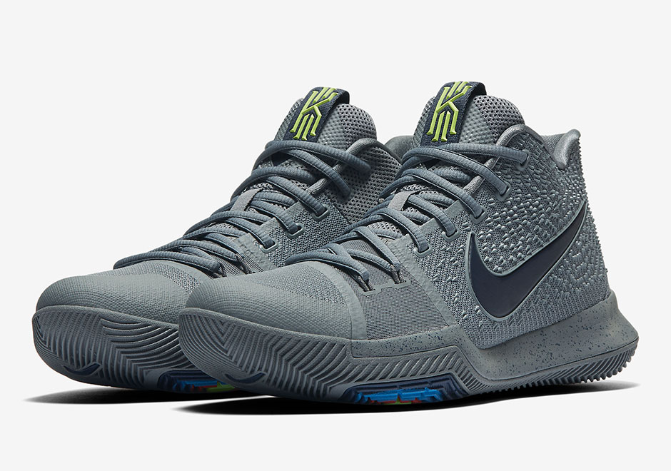 "Updated March 14th, 2017: The Nike Kyrie 3 ""Cool Grey"" releases on March  18th, 2017 for $120."