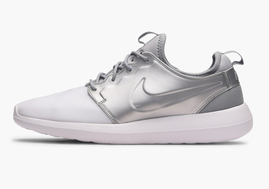 The Nike Roshe Two Features Matte Silver Uppers