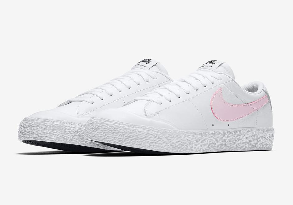 b0ded3d08404 Nike SB Blazer Low XT Color  White Black Prism Pink