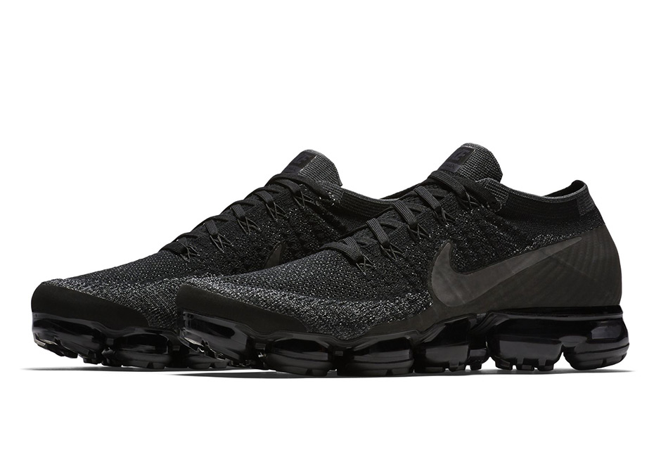 """buy popular 8afdb dd5a6 ... the coming attractions for Air Max Day 2017. NikeLab VaporMax """"Triple  Black"""" Release Date  March 26th, 2017  190. Color  Black Black-Black"""