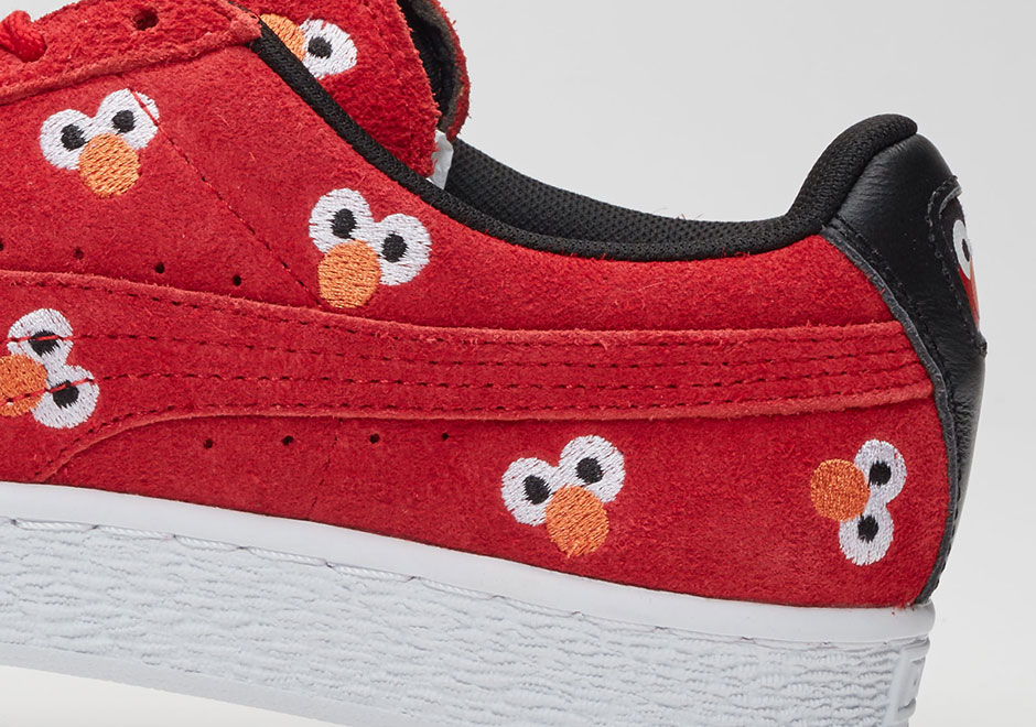 10520a13f017 Sesame Street s beloved characters are now coming to your feet thanks to an  upcoming collaboration with PUMA. This Elmo-themed Suede is the first  sneaker ...