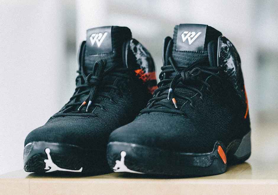 "his personal motto—text on the heels in OKCs bright orange and blue tones.  Get a detailed look at the ""Why Not"" PE here, and look for them on  Westbrooks ..."