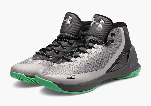 online retailer fd281 e20e9 ... dark and light grey across the mesh upper with black accents and pops  of bright green to finish them off. The heady colorway is arriving now at  select ...