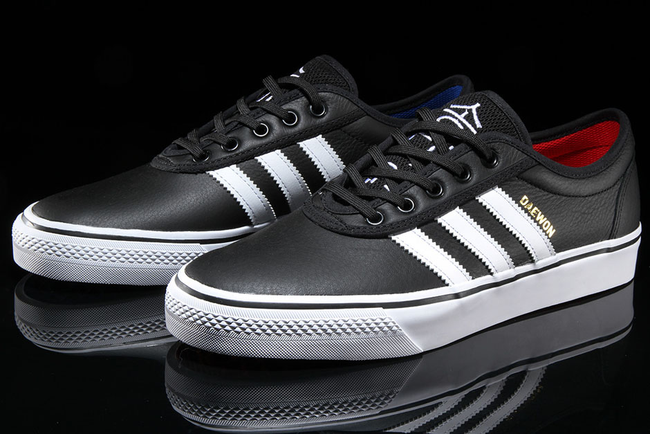 "adidas Adi-Ease ""Daewon Song"" Release Date: Available now via Premier $65.  Color: Black/White-Red-Blue"