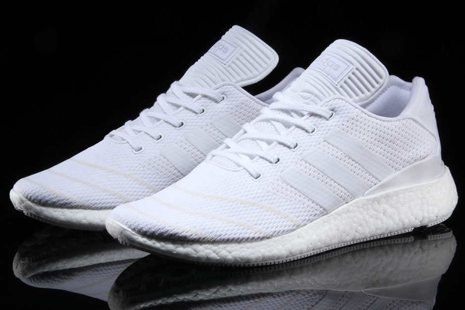 "differently bfca0 e13fa adidas Busenitz Pure Boost ""Triple White"" Available Now 180. Color  WhiteWhite-White"