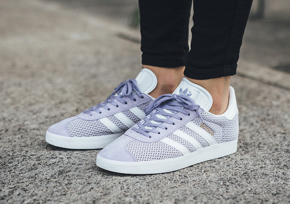info for d2707 21679 The classic adidas Gazelle gets a modification perfect for the hot summer  months ahead, featuring a new mesh construction. In sizing for both men and  women, ...